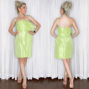 J Crew Lime Green Cocktail Homecoming Party Dress